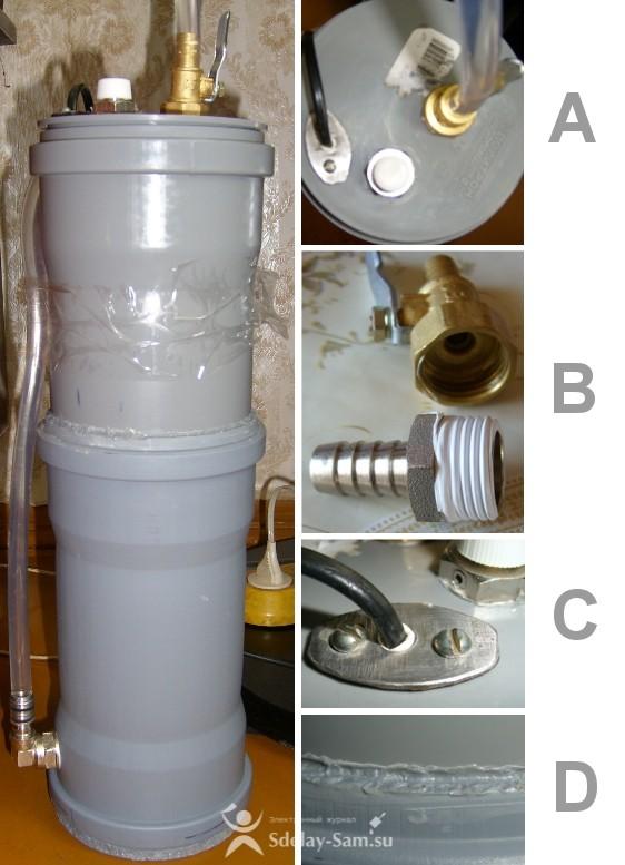как сделать простой самодельный фильтр для очистки воды и картридж