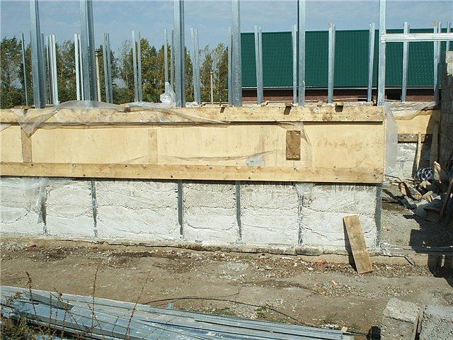Строительство из керамзитобетона с переставной опалубкой