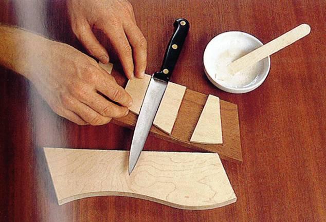 Как сделать подставку для ножей из дерева своими 122