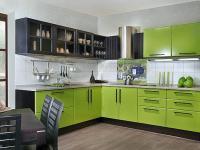 Интерьер кухни в зеленом цвете фото