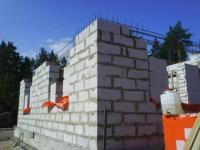 Строительство дома из пеноблоков фото