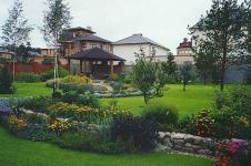 Фото ландшафта загородных домов