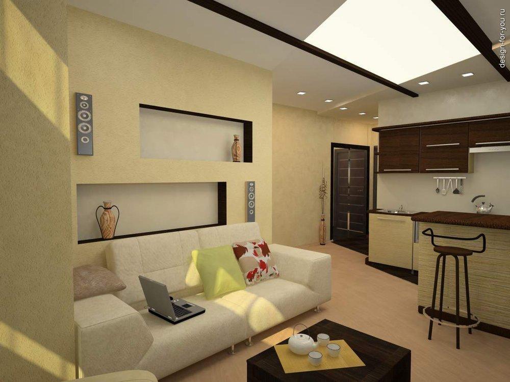 Фото дизайн однокомнатных квартир студий