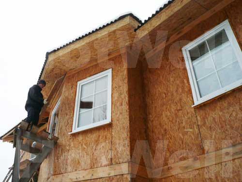 Наружная отделка фасадов каркасных домов - Экоплат