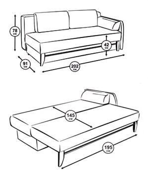 Чертеж дивана кровать своими руками