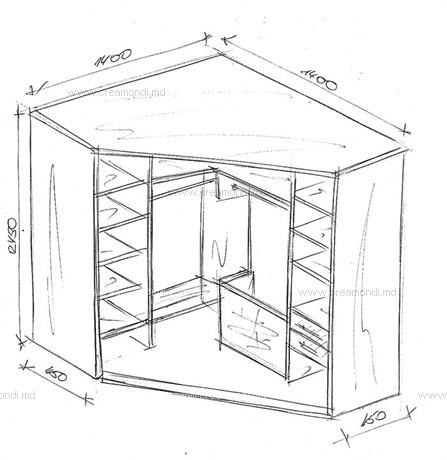 Шкаф-купе своими руками чертежи из гипсокартона