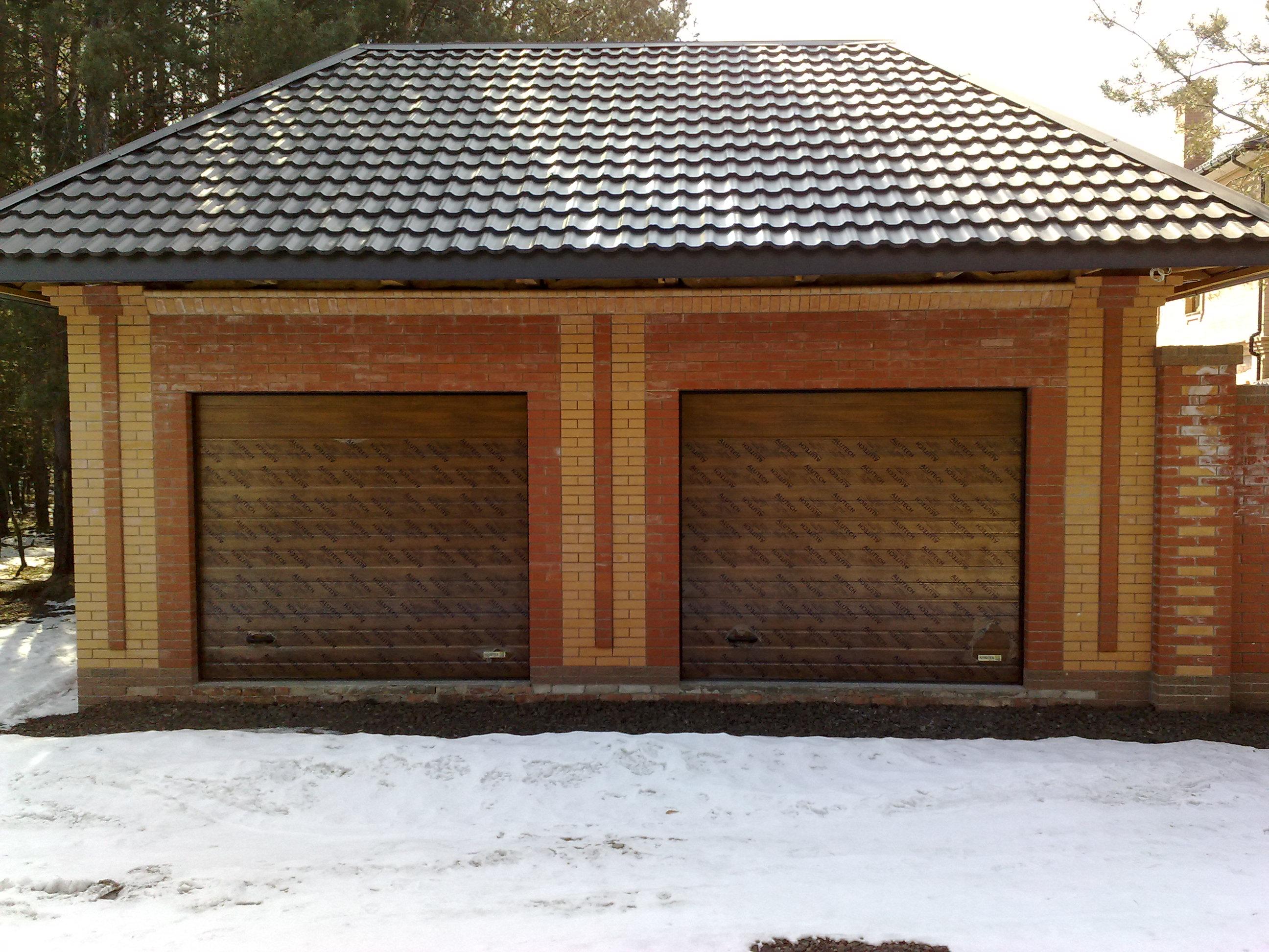 Строительство кирпичного гаража