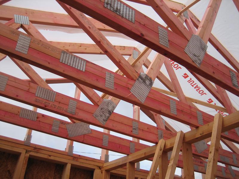 Конструкция мансардной крыши с