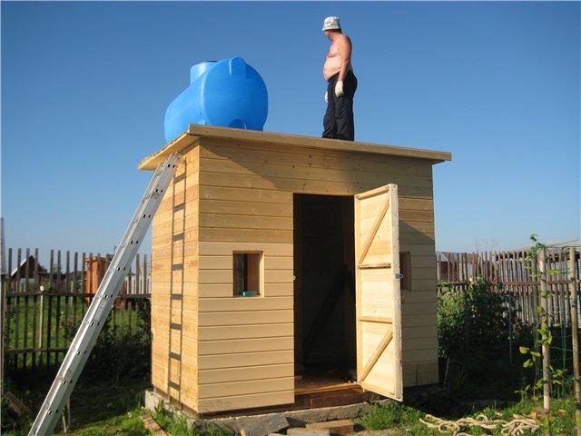 Построить душ своими руками на даче