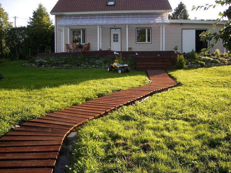 Как сделать дорожку на даче своими руками | ЧНМ