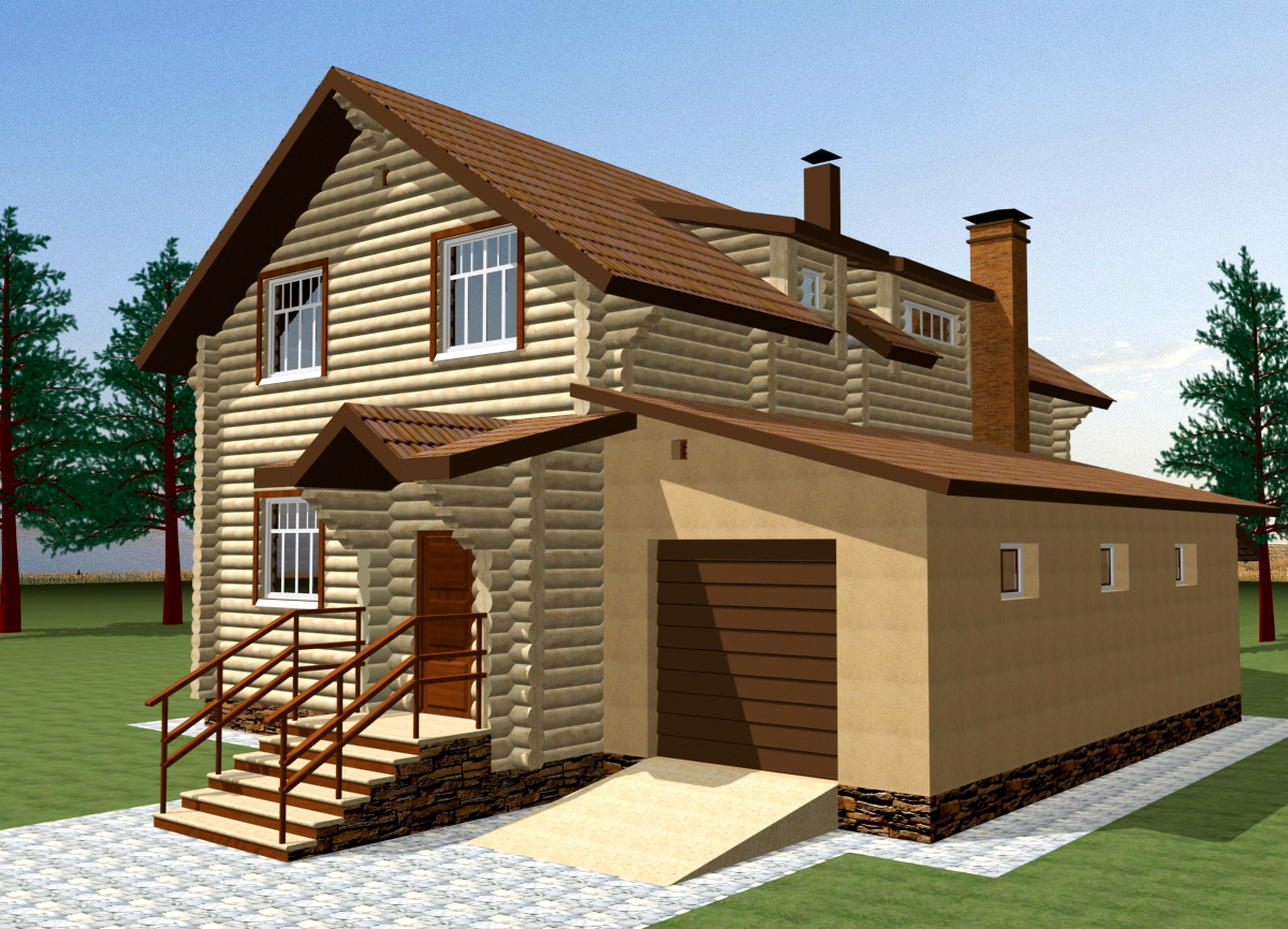 Проекты домов 6 на 8 с мансардой (49 фото): план