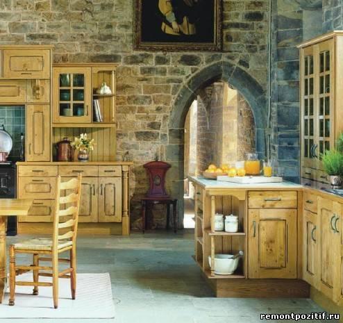 Отделка кухни декоративным камнем фото