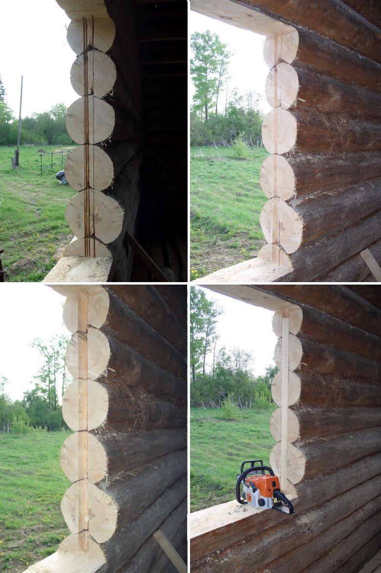 схема установки деревянных евроокон в деревянном доме