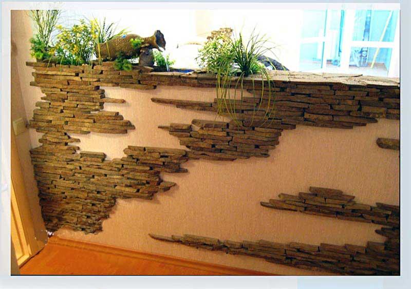Использование декоративного камня в