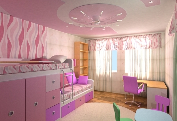 Детская дизайн для двух детей