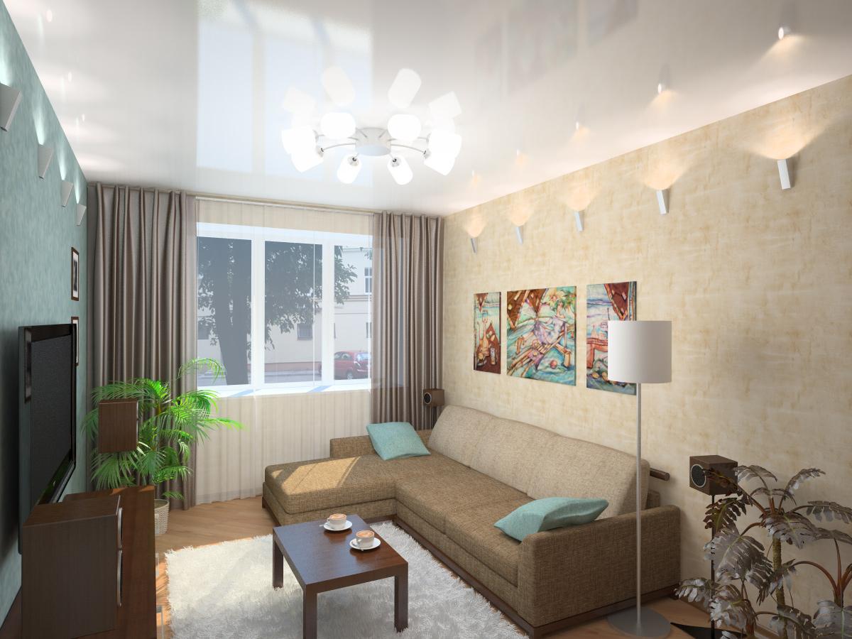 Дизайн зала маленькой квартире фото
