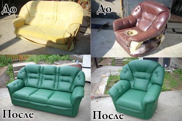 Обшивка дивана своими руками