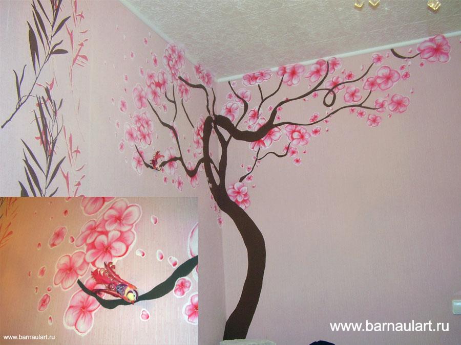 Рисунки на стене в квартире своими руками для детской