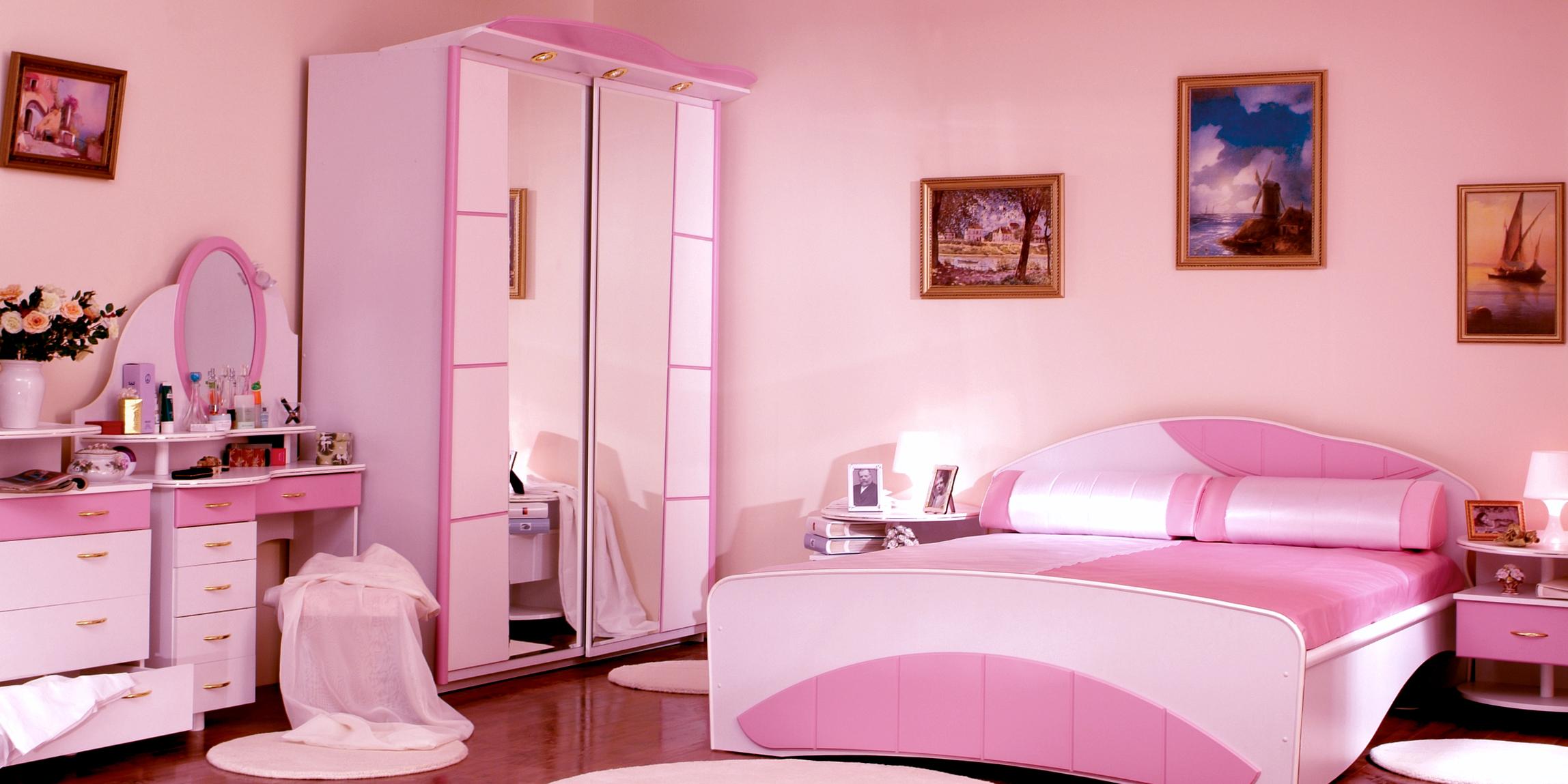 Розовая спальня фото
