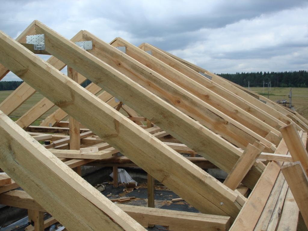 Как сделать г образную односкатную крышу своими руками